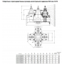 Задвижка AVK фланцевая с 4-мя встроенными задвижками COMBI-CROSS DN200 PN10