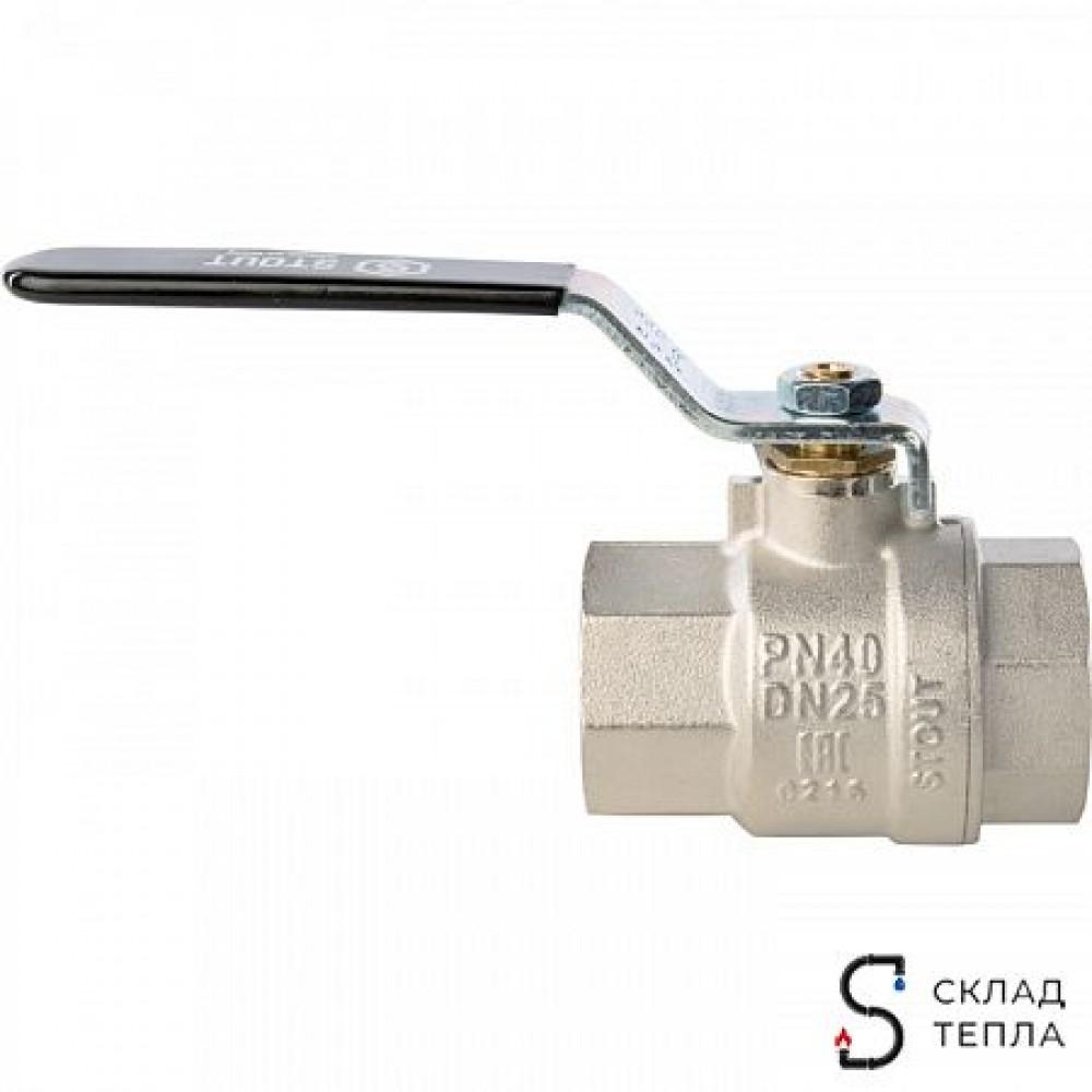 Кран шаровой полнопроходной STOUT - 2' (ВР/ВР, PN40, Tmax 150°С, ручка-рычаг черная) SVB-0001-000050
