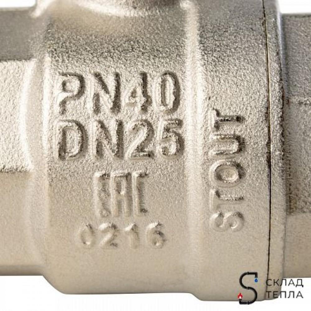 Кран шаровой полнопроходной STOUT - 1' (ВР/ВР, PN40, Tmax 150°С, ручка-рычаг черная) SVB-0001-000025
