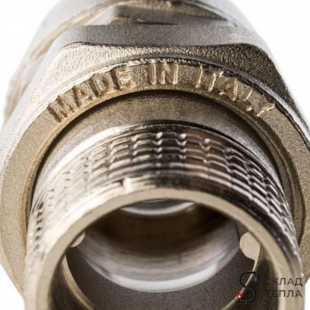 Кран шаровой полнопроходной STOUT - 1'1/4 (ВР/НГ, PN40, Tmax 150°С, ручка-бабочка черная) SVB-0007-000032