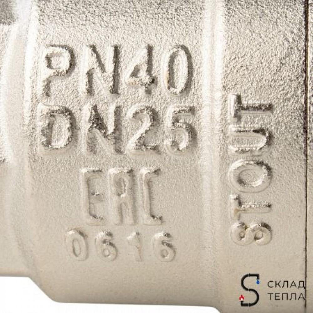 Кран шаровой полнопроходной STOUT - 3/4' (ВР/ВР, PN40, Tmax 150°С, ручка-бабочка черная) SVB-0002-000020